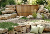 Badefass im Garten