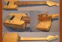 pallet guitar body and box guitars