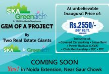 SKA Greenarch / SKA Greenarch offers 2 BHK and 3 BHK luxurious apartments located at Gaur Chowk, Noida Extension.