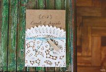 Convites rústicos e kraft / Convites de casamento em papel kraft, rústicos e artesanais