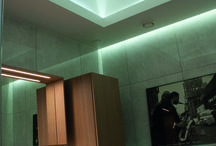Bathroom lighting   Kylpyhuoneen valaistus / Bathroom lighting makes every shower session perfect.