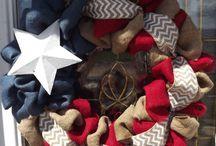 burlap wreath / by Valerie Lawson Janney