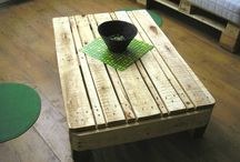 Furniture from pallett and recycled wood