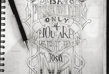 Hand lettering / Typography
