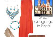 Synagouge dresses inspired by famous synagouges