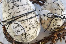 Decoupage eggs / decoupage