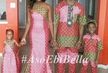 Nigerian matching family outfits