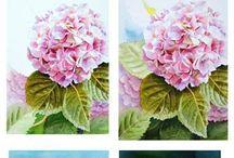 꽃,허브그리기