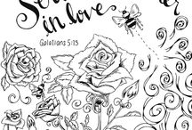 colouring pages / Bible verses to colour