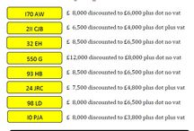 Jan New Year Special Offers / Number Plates on monthly discount