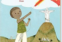 "Pedro und der Drachen / ""Pedro und der Drachen"" is a reading book written by Martin Amanshauser and illustrated by me. It is published by Picus 2016. The book is about a boy called Pedro who gets a mysterious kite by a man in Rio de Janeiro. Pedro flies the kite at the Copacabana and soon it is the hightest among the others. And soon Pedro gets more attention than he has expected."