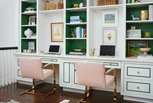 Office / This board features colorful, chinoiserie, chic, Palm Beach-inspired, inspirational offices.