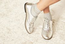 Web Only Footwear / Exclusive online: trendy velvet sneakers, beautiful metallic derbies and playful glitter socks to make any outfit shine! Shop here: http://bit.ly/WebOnlyPinterest