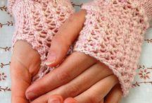 hæklet/strikket handsker