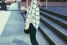 checked outfit