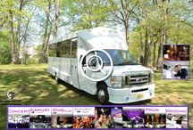 (NJ) PARTY BUS RENTAL (20 Passenger) / This Party Bus can accommodate 20 passengers very comfortably. Our 20 Passenger Party Buses are equipped with a bar, Big Screen TVs, AM/FM/CD, DVD player, I-Pod connection and fiber optic lighting. Air conditioning and heat is standard. All Party Buses possess a LAVATORY and a Emergency Egress.    #partybus #njpartybus   TRULIMO.COM Tel: 908.523.1700