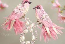 Oiseaux brodés