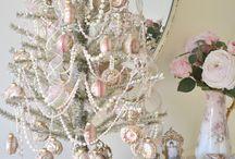 pink shabby chic christmas
