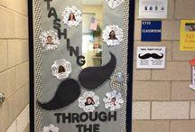 Fun door/bulletin board ideas / Classroom decorating ideas