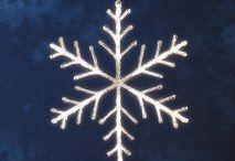 Kerstverlichting silhouetten / LED Kerst ster silhouetten, voor het creëren van een vrolijke kerstsfeer.