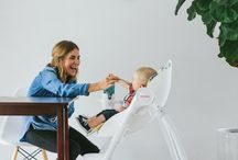 Oribel Cocoon High Chair / The Complete high chair, Cocoon, transforms from a comfortable recliner to an early feeding modern high chair. It's easy to use, has ample space for food play and wipes down like a dream.