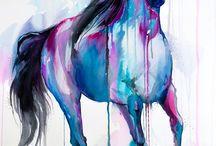 horses draw