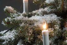 Christmas lighting: candle sticks, Christmas trees, Paper stars / Candle sticks for Christmas & winter time. Decoration lights for Christmas trees. Paper stars.