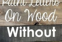 text on wood