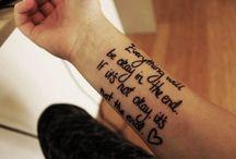Tattoo / Tattoo idea's