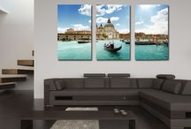 Canvas Photo Split Panels / Our canvas photo split panels are a great idea for creating decorative image clusters on your wall spaces