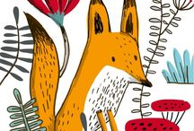 Illustrated foxies