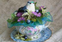 Dekoracie z porcel.salok