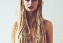 .Long hair.