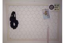 Home DIY / White chicken wire frame diy storage