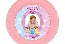 Prensesler Doğum Günü Ürünleri / Prensesler Kişiye Özel Parti Malzemeleri