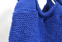 Hand knit bag