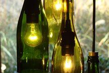 Lámparas botella