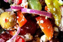 Salod & Greazeig - Salat & Grünzeug - Salad & Greens / Alles mit Salat: Blattsalat, Tomaten, vegetarisch, Obstsalat, - Everything with Salats & Greens