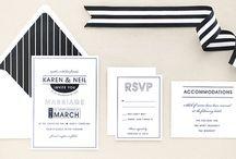 Modern Black and White Wedding / by Adori Designs