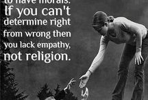 My thoughts on morals, religion and ethics