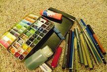 Warsztat pracy malarza