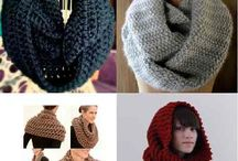 Cuellos adultos crochet