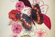 textiles butterflies
