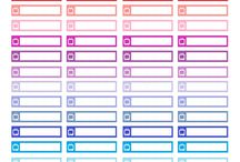 Personal-Planner.com sticker labels / A variety of sticker label sheets I made which will fit the personal-planner.com vertical layout.  Free printables.