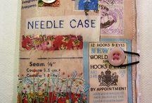 textile collage ideas