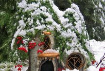 Snow Fairy Gardens and glass bowl scenes / by DeeDee Arychuk Stolaryk
