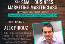 The Small Business Online Marketing Master Class 2015 / From May 14-24, 2015 we are giving you 21 online branding, design, strategy and marketing experts to help you make more money through small tweaks in your marketing and website. Sign up here >> http://fingerprintmarketing.com/masterclass/ / by Fingerprint Marketing Graphic and Website Design