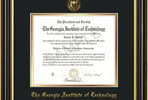 Georgia Tech Diploma Frames & Graduation Gifts / Official GT Diploma frames. Exquisitely crafted to exacting specifications for the GT diploma. Custom framed using hardwood mouldings and all archival materials, including UV glass to prevent fading from sunlight AND indoor incandescent lighting! Each frame exceeds Library of Congress standards for document preservation and includes a 100% lifetime guarantee, ensuring that a hard-earned achievement will be honored and protected for generations. Makes a thoughtful and unique graduation gift!