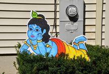 Krishna themed