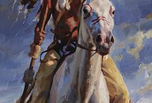 sioux warrior and wolf